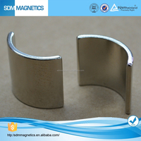 Golden Supply high quality neodymium curved magnets for