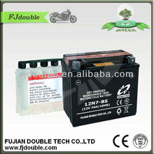 Motorcycle parts/Auto Batteries/ Dry-charged Motorcycle Battery 12V7AH motobike battery