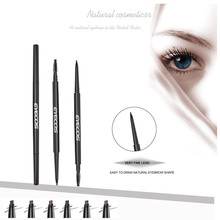 High quality Super Slim Makeup Brows Double ended automatic Eyebrow Pencil with Eye Brows Brush Waterproof and Long-lasting