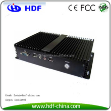 Embedded Fanless MicroBox System Industrial Mini PC 2G RAM,320G Msata SSD