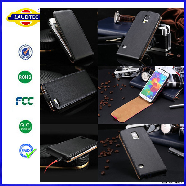 For Samsung Galaxy Note 4 Luxury Genuine Real Leather Case,Flip leather case for Samsung --Laudtec
