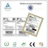 Premium blank logistics A4 adhesive labels sheet manufacturer for Fedex, eBay