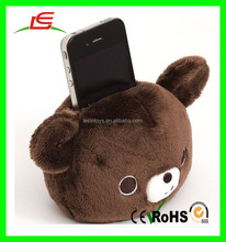 ICTI audited soft toy plush stuffed soft teddy bear toy design cell phone holder