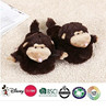 plush house slipper/plush monkey slipper toy/cheap brown plush monkey slipper toys