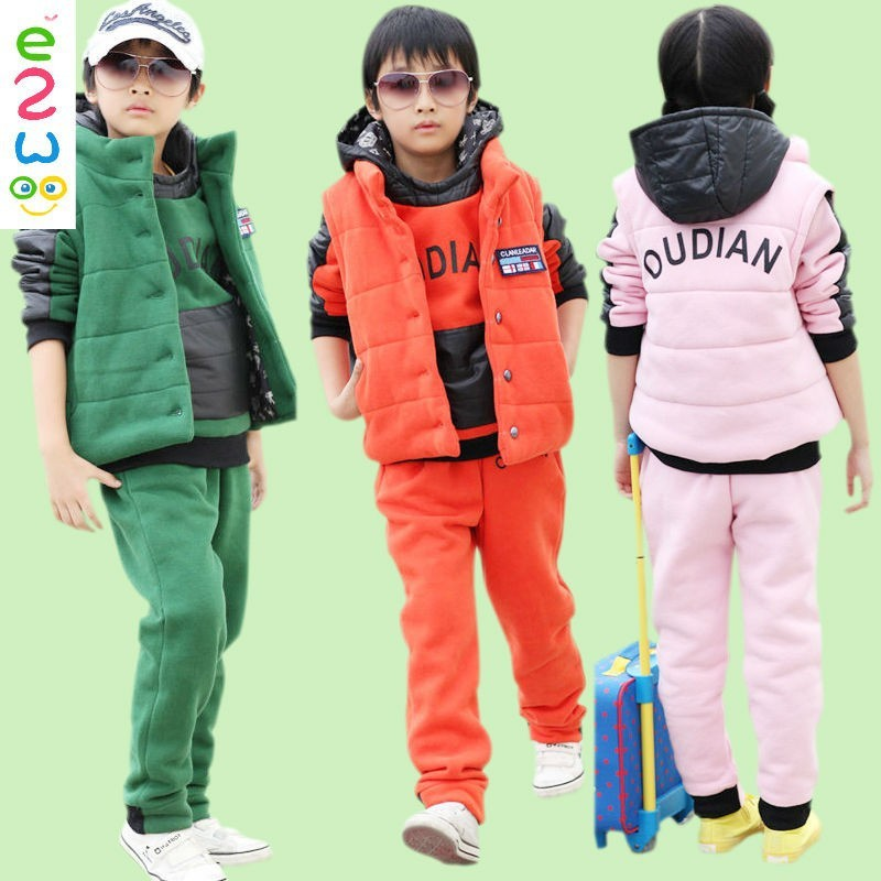 Children Fashion Style 3 Pieces Sports Set For Winter China Online Shopping