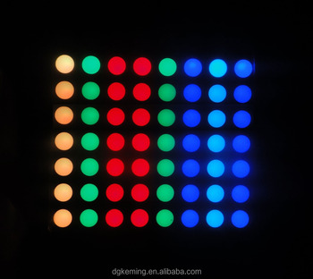 RGB 60.2*60.2mm 7.62mm led round dot matrix displays module