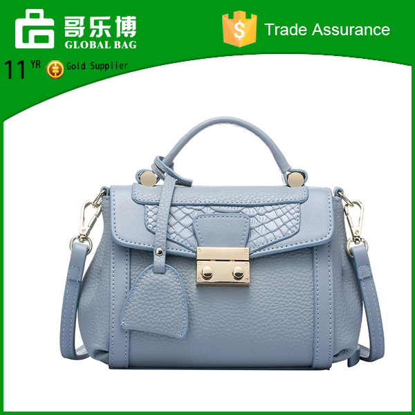 Alibaba wholesale crocodile genuine leather hand bag mini shoulder bag for women
