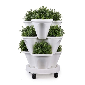 Home garden use plastic vertical strawberry grow pot with top quality