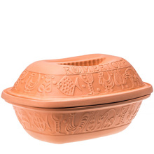 Glazed terracotta clay cooking pot