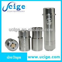 Sliver Dragon Mod new 2013 stainless vaporizer 18650 mod fully mechanical ecig new products for 2013 E-Cigarette mechanic mod