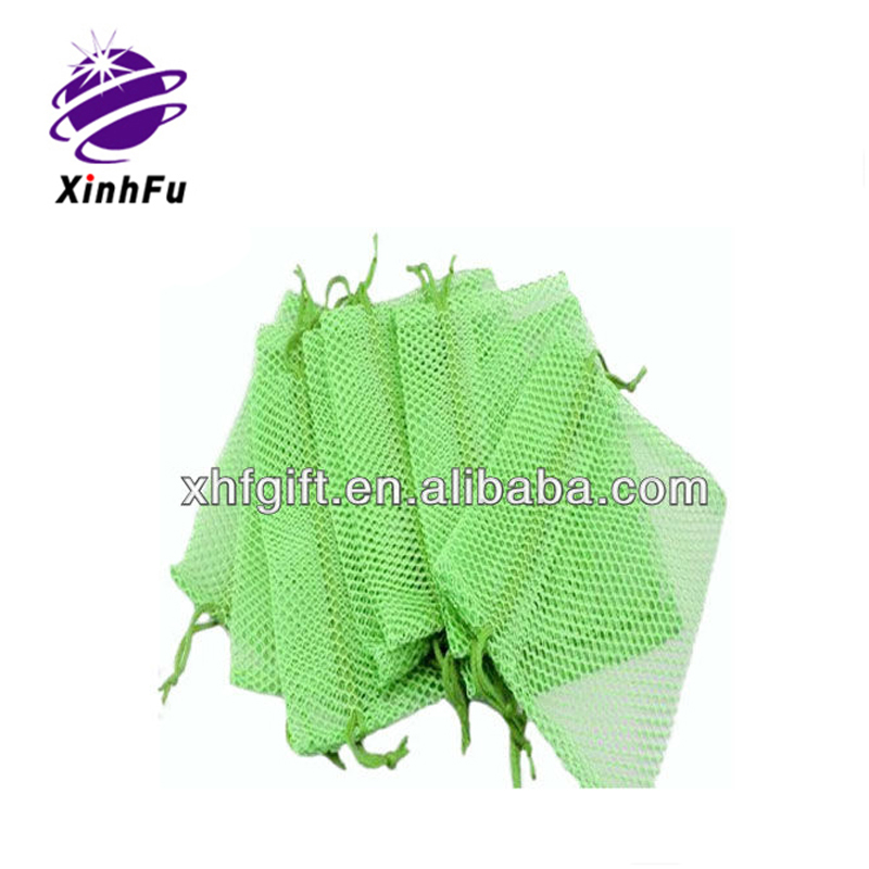 Various kinds of color of pp mesh draw string bag for packing from XHF