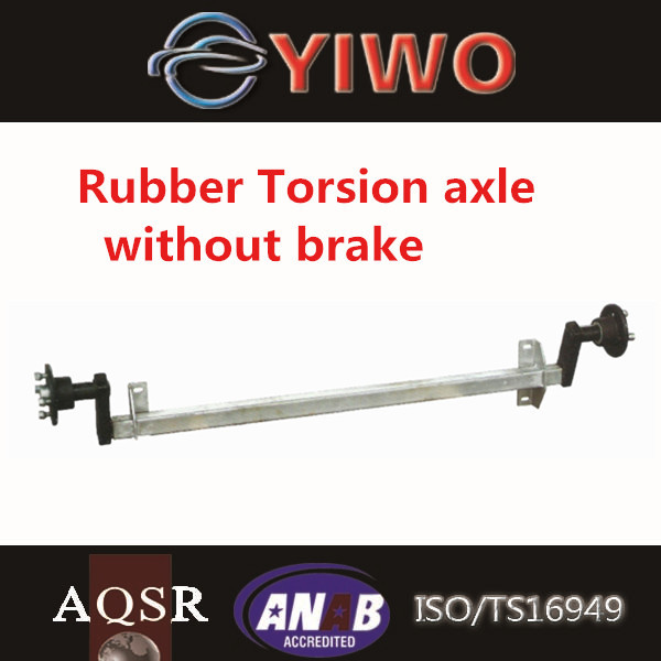 rubber torsion axle 18' Double Axle Trailer drawing