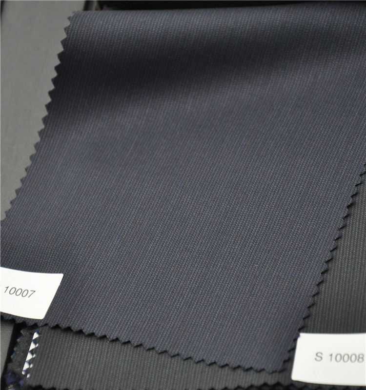 Black color hot sale wool and polyester fabric for suit jacket
