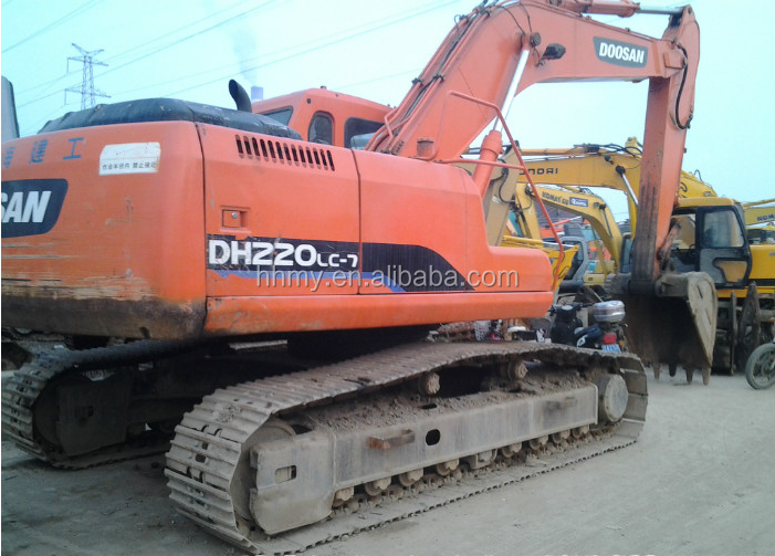 DOOSAN used DH220-7 crawler excavator,second hand doosan 220-7 for sale in Shanghai