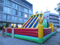 Durable fashionable commercial inflatable slide for adults and children