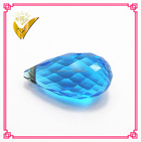 best quality droplet facets aquamarine blue cubic zirconia