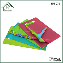 5pcs non-stick flower coating pp handle kitchen knife with colorful cutting board knives set