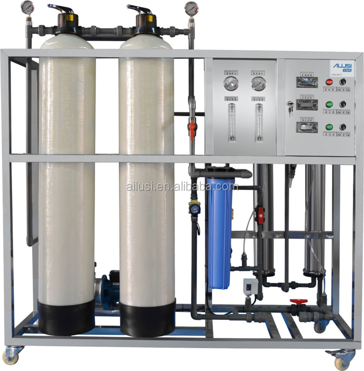 Commercial membrane reverse osmosis well water treatment purification system