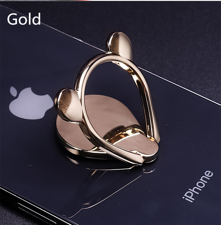2019 Hot Selling Factory Customized Cute Mose Head Metal Magnetic Ring Stand Phone Holders in Phone Accessories