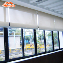Office shades solar power remote control motorized roller blinds