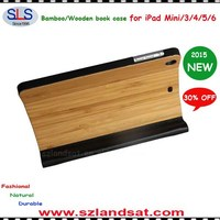 2015 NEW ARRIVAL bamboo booklet case for ipad air IBC10