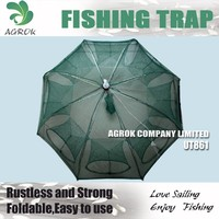 Wholesale Umbrella Type of Folding Wire Crab/ Lobster / Fishing Trap Crayfish Trap 8 Entrances