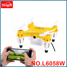 2016 NEW Replaceable battery L6058W 2.4G 6-Axis 4CH Gyro RC Quadcopter Drone with 0.3MP Camera Wifi Control