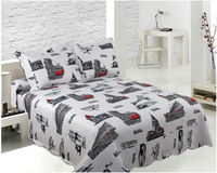 Summer padded reversible quilted cotton fabric quilt