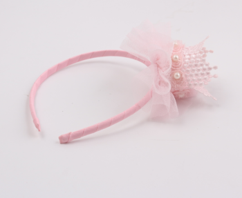 Girls Boho Floral Flower Crown Headband with Tulle Hair Accessories Garland Wedding Hairband