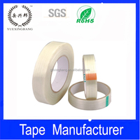 Double sided stripe/mesh glass fiber adhesive tape
