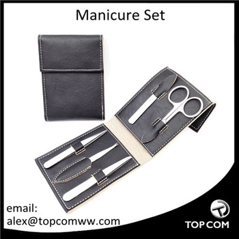 Luxury Manicure Set, High Quality Manicure Kit With Leather Pouch