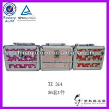2016 Xinqiulong aluminum tool box with wheels, aluminum briefcase