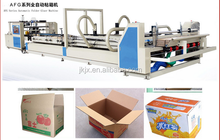 High speed 4 6 corner automatic folder gluer machine/carton box making machine