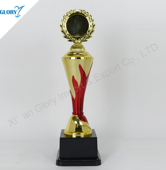 colorful plastic trophy cup of award for match