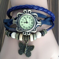 Lady wrist watch ,Womens butterfly watches , Quartz ladies watches Wrist Retro Watch butterfly pendant watch
