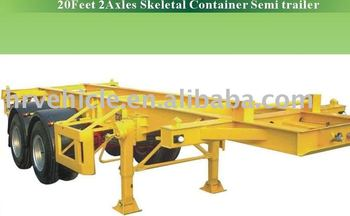 20 Feet 2 Axles Skeletal Container Semi trailer