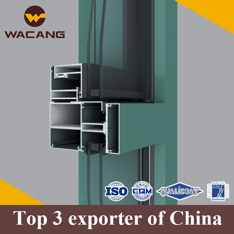 Thermal break polish extrusion aluminium curtain wall profile