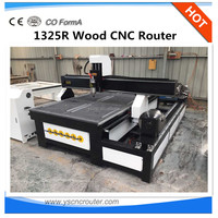 hot sale machine cnc wood lathe 1325 wood acrylic aluminum stone cutter engraver cnc router with rotary axis for leg