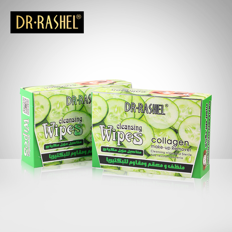DR.RASHEL Cucumber Collagen Makeup <strong>Remover</strong> Cleansing wet Wipes