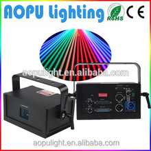 Hot sale full color rgb 1w animation pc controlled laser spot lights