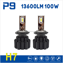 Latest 100W led headlight H7 LED Headlight 13600LM high lumen Super bright H4, H7, H8, H9, H11, 9005, 9006