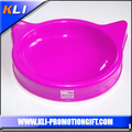 novelty pet bowls cat head plastic cat bowl