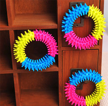 Dog's Toys <strong>Pet</strong> Traning Products <strong>Pets</strong> 3 Color Embossment Spinose Ring TPR Rubber Toys Resistance to bite