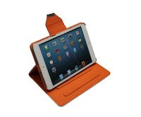 High quality slim mobile phone leather case for ipad mini case