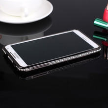 OEM Handmade Rhinestone Universal Metal PC Cell Phone Case For Iphone Case