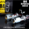 Price Chopper! H4 Projector Retrofit projector lens Bi xenon H4 projector lens light 12V 35W HID H4 4500LM Cars lamp