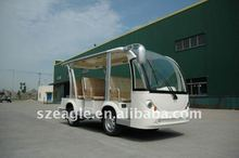 SHUTTLE BUS CE Approved electric MINI BUS/shuttle bus/sight seeing car/tour car, electric vehicle EG6088K03 72V 5KW system