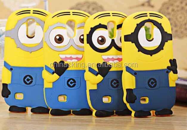 Hot newest products 3D Despicable Me silicone mobile phone cover for s5