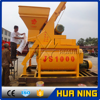 Factory sell Twin Shaft JS1000 mini portable small Electric Concrete Mixer with pump