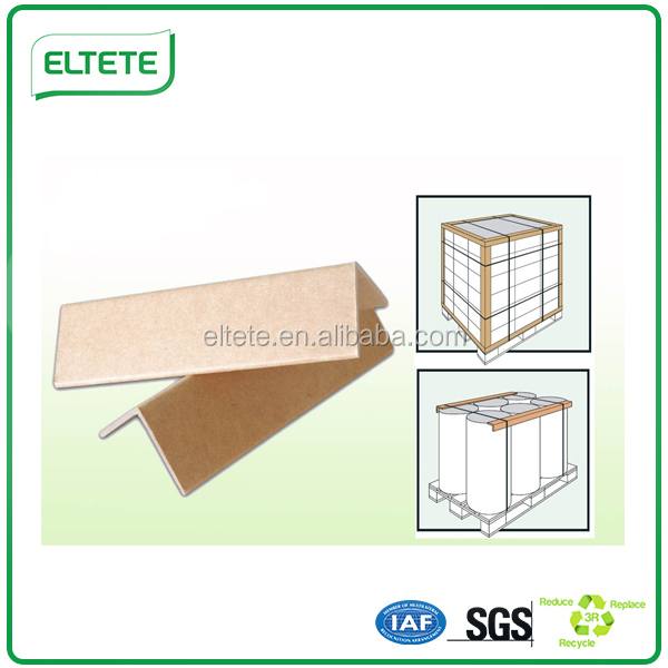 Kraft /white shelf paper corner angle board for cartons